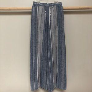 Express blue white striped palazzo pants
